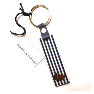 NWT Dooney & Bourke Navy/White keychain Charm
